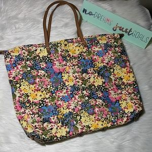 J. Crew multi-style, colorful flowers bag!